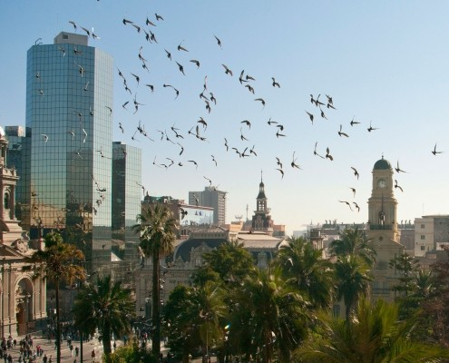 photo of the beautiful city of Santiago Chile
